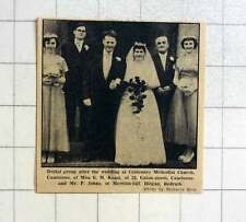 1957 Wedding Of Miss E Keast, Camborne And Mr P Johns Redruth