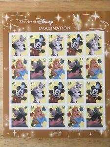 42c The Art of Disney Imagination Pane of 20 2008