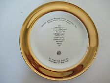 Fine china service plate commemorating Alcoholic Beverage Control dinner in 1971