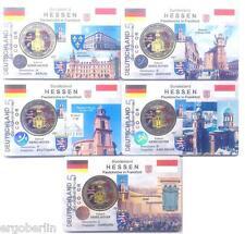 MONETE DI COLORE Germania 2015 Chiesa di st. paul ADFGJ Premium Coincard