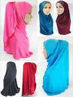 Pull-on Easy Muslim Hijab Fashion Islamic Scarf Viscose Ice Silk MLl061
