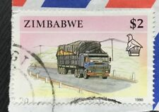 Zimbabwe stamps - Truck/Lorry   2 Zimbabwean dollar  1990