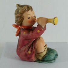 "Goebel Hummel Figurine Girl with Trumpet Hum 391 Tmk6 2 3/4"" Tall"