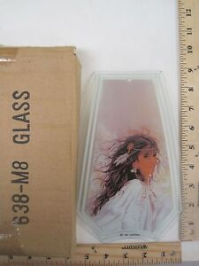 FREE US SHIPPING ok touch lamp replacement glass panel Native American Women M8