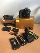 Nikon D810 +battery grip +extras