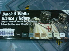 Vallejo Model Color Blancos y Negros Paint Set 17ml nuevo new