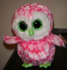 Ty Beanie Boos - BUBBLY the Owl (6 Inch)(Claire's Exclusive) MINT with MINT TAGS