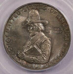 1920-P 1920 Pilgrim Half Dollar ICG MS65 faint hints of teal toning