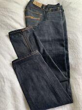 NEW NUDIE Grim Tim Jeans / Dry Selvage Waist 29 Leg: 32
