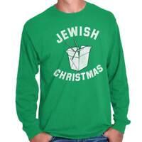 Jewish Christmas Chinese Food Hanukkah Xmas Long Sleeve Tshirt Tee for Adults