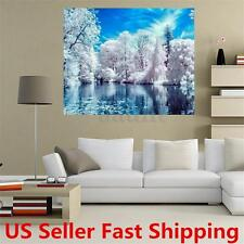 New 5D Snow Lake DIY Diamond Embroidery Painting Cross Stitch Home Decor Craft
