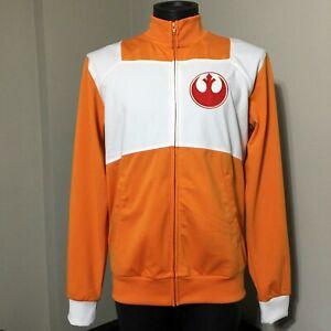 Star Wars Thinkgeek Rebel Pilot Track Jacket Mens M Think Geek Cosplay Force