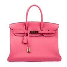 Hermes Birkin 35 Bag Rose Lipstick Pink Togo Gold Hardware