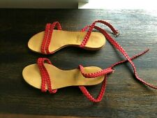 Vintage 1984 Red Czech Cebo ( ЦЕБО ) Ladies Sandals Retro Czechoslovakia Size 8