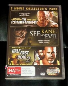 The Condemned / Kane - See No Evil / Half Past Dead 2 (2008 : 3 Disc DVD) New R4