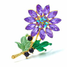 Purple Alloy Costume Brooches & Pins