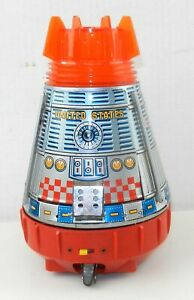 Horikawa SH Japan 60's SUPER SPACE CAPSULE Battery Operated Tin Toy WORKS ~ T202