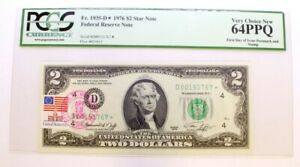 $2 Dollar 1976 Federal Reserve Star Note First Day Issue Stamp PGCS 64 PPQ