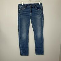 American Eagle Outfitters Skinny Jeans Sz 10 Womens Light Wash Denim Stretch