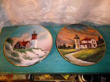 Admiralty Head Lighthouse & Nauset Light, 1993 Danbury Mint, 2 Plates