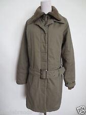 Winter Jacke EDC by ESPRIT Mantel Parka L ca 38 military khaki oliv Gürtel /F2