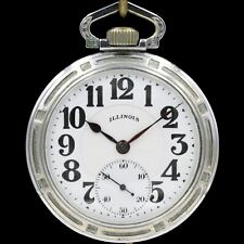 1926 Illinois Bunn Special RAILROAD Pocket Watch Type II 60 Hour 21 Ruby Jewels
