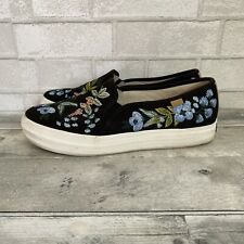 KEDS X Rifle Paper Co Slip on Sneaker Shoes Floral Flowers Women's 11 WF59684