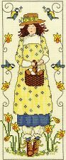 BOTHY THREADS COUNTED CROSS STITCH KIT - Country Lass APRIL - XCL1 - 12*29 cm