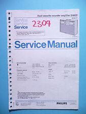 Manuel d'instructions service pour Philips D 6650, original
