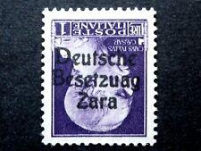 ITALIA REGNO OCCUPAZIONE ZARA 1 LIRA 1943 MNH** BESETZUAG CAPOVOLTO CV € 12.000