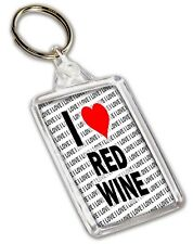 I Love Red Wine Keyring - Gift - Birthday - Christmas - Stocking Filler