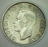 1941 Great Britain Silver Florin Coin XF Extra Fine Silver UK Coin George V