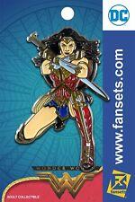 Dc Comics Wonder Woman Kneeling Licensed FanSets Pin MicroJustice