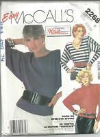 Misses Tops, McCalls Pattern 2268, Size 8-12, Uncut,Stretch Knits