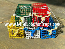 FULL SET of 5 Mini Lobster Traps -ALL 5 COLORS - handmade in Gloucester MA