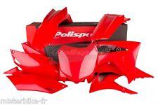 Kit plastiques Coque Polisport  Honda CRF450R 2013 2014 2015 Coul: Rouge