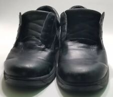 Mens DUNHAM By New Balance Black Leather Casual Waterproof Work Shoes Sz 14 2E