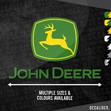 Alto 2 Tono John Deere Con Insignia Arriba Adhesivo Pegatina - Tractor Cortadora