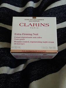 Clarins Extra-firming Wrinkle Control Regenerating Night Cream for Unisex 1.6 oz