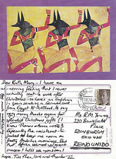 1995 TABLEAU OF A WAR DANCE COLOUR POSTCARD FROM A PAINTING BY TOULOUSE LAUTREC