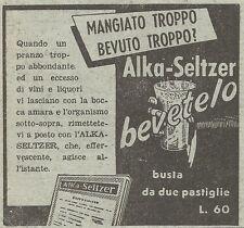 W1211 Alka Seltzer - Pubblicità 1953 - Vintage Advert
