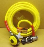 Brownie's 100 ft Octo Hookah Hose with 1st & Second Stage Regulator, No Tank