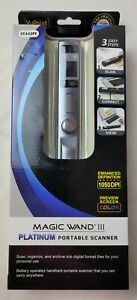 VuPoint Solutions Magic Wand III Platinum Portable Scanner ST442PE 1050DPI New