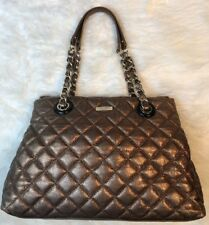 Kate Spade Gold Coast Sierra Shoulder Tote Bag Bronze Metallic Quilted Leather