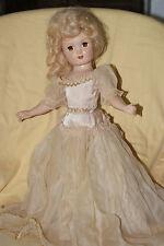 "PRETTY Vintage 17"" Hard Plastic Eugenia Doll"