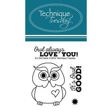 OWL Small Set Clear Unmounted Rubber Stamps TECHNIQUE TUESDAY ITSOW New