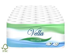 64/96/128/192 Rollen Toilettenpapier Klopapier WC-Papier 3-lagig Zellstoff FSC®