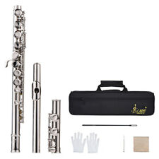 Cupronickel Silver Plated 16 Holes C Key Flute for Students Musical Gift A7S0