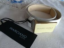 CINTURA BELT WOMAN GUESS MARCIANO PELLE GENUINE LEATHER WHITE SIZE 44