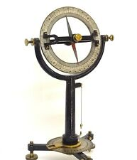 ANTIQUE COMPASS 1870 DIP NEEDLE INCLINOMETER SURVEYOR SURVEYING MINER MINING SEE